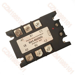3 phase Solid State Relay Sa3 66200d Ssr Input 4 32vdc output 90 660vac max 200a