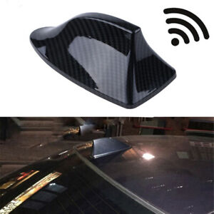 Carbon Fiber Shark Fin Shape Car Exterior Fm Am Antenna Aerial Radio Signal