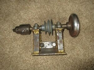 Antique Lathe Tailstock W jacobs 6a Chuck