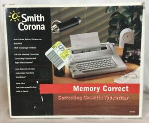 Smith Corona Memory Correct Electric Correcting Cassette Typewriter Na1hh Tested