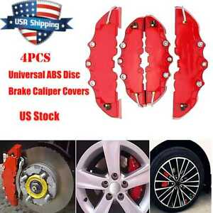 4x Disc Brake 3d Cars Parts Caliper Covers Front Rear Car Truck Universal H3u0