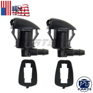 2xnew Windshield Wiper Washer Nozzle Spray Jet For Saturn Outlook 25823360