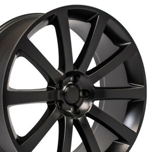 22 Rims Fit Dodge Chrysler 300 Srt Magnum Satin Black Wheels 2253