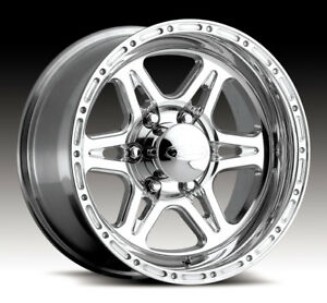 4 New 17 Inch Raceline 886 Renegade 6 17x9 6x135 6mm Polished Wheels Rims