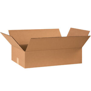 25 24 X 14 X 6 Cardboard Shipping Boxes Flat Corrugated Cartons
