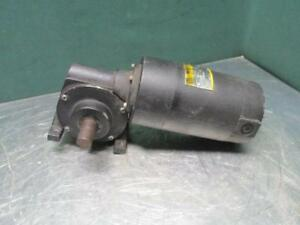 Baldor 74 jk o Electric Dc Gearmotor Gear Box Motor 1 8 Hp 90v 30 Rpm 58 1 Ratio