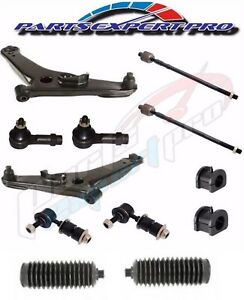 03 06 Mitsubishi Outlander Front Suspension Full Repair Kit Control Arm Tie Rods