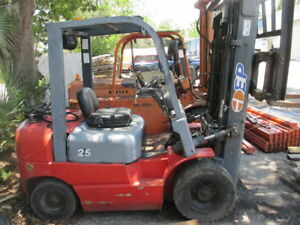 Ep Heli Cpyd 25s 5000lbs Lpg Propane Forklift W Side Shift 189 Max Height