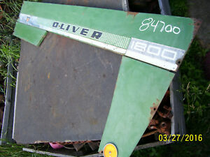 Vintage Oliver 1800 D Row Crop Tractor Rh Side Panel Checker Board Series