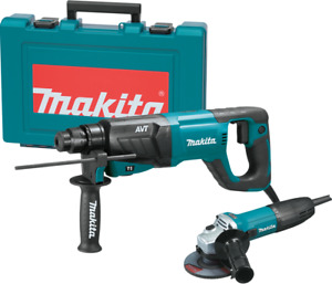 Makita Hr2641x1 1 Avt Sds plus Bits d handle Rotary Hammer And 4 1 2 Angle