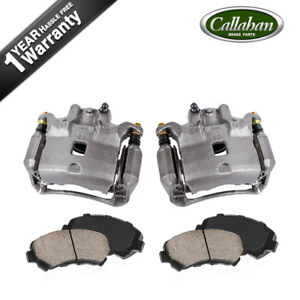 For Nissan Sentra Front Oe Brake Calipers Pair Ceramic Pads