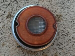 1969 1973 Opel Gt Taillight Tail Light Back Up Housing Reverse White Amber Nice
