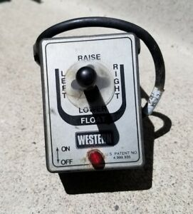 Western Snow Plow Joystick Controller 6 Wire W Bracket Used