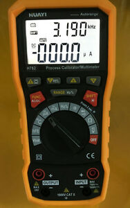 Process Loop Calibrator Current Voltage Frequency Source Output