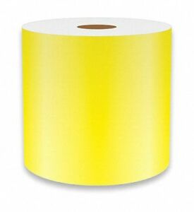 Vnm Signmaker Continuous Vinyl Label Tape Yellow 4 w X 75 Ft Refyl 3102