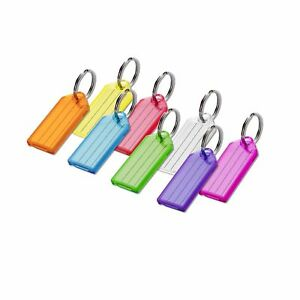 Lucky Line Key Tag With Split Ring 100 Per Box Assorted Colors 10400