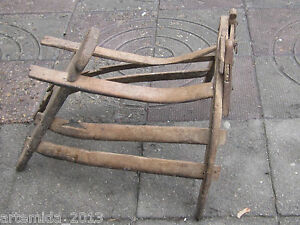 Old Antique Primitive Ottoman Empire Wooden Saddle Pack Saddle From Bolkans