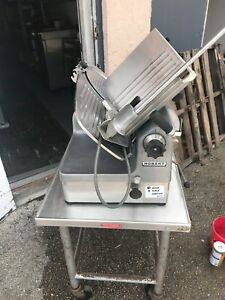 Hobart 1712e Automatic Deli Meat Slicer With Seco Stand W safety Latch