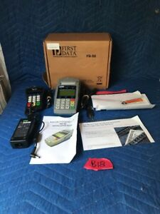 First Data Fd50 Credit Card Terminal W Fd 10 Pin Pad And More