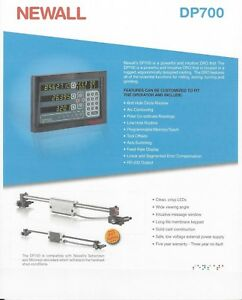 Newall 2 Axis Digital Readout Dp700 Mill Package 12 x30 Dr0 Kit Dp70021100 2