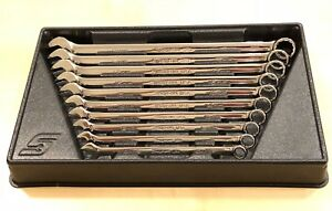 Snap On Soexlm710b Long Combination Wrench Set Flank Drive Plus Metric 10 Pieces