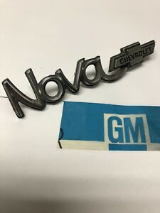 1973 nova Hood Trunk Nameplate Emblem Gm 327513