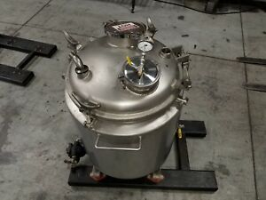 40 Gallon Letsch Jacketed Reactor 316l Stainless Steel