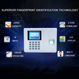 2 4 Lcd Tft Attendance Machine Recorder Biometric Fingerprint Time Clock Us St