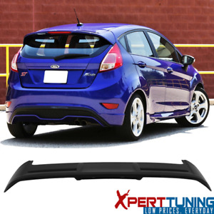 Fits 11 18 Ford Fiesta Hatchback St Style Matte Black Abs Roof Spoiler Wing
