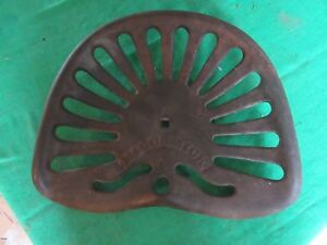 Vintage Mccormick Cast Iron Tractor Seat Lot 18 35 40