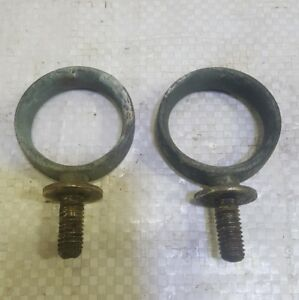 Vintage Horse Harness Or Buggy Brass Hardware Hames Collar Breeching Rings Pair