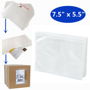 5 5 x7 5 Clear Packing List Envelope Adhesive Shipping Document Label Pouches