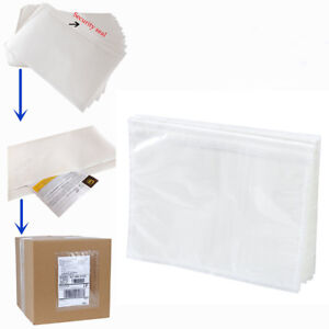 6 X 9 Clear Adhesive Top Loading Packing List Shipping Label Envelopes Pouches