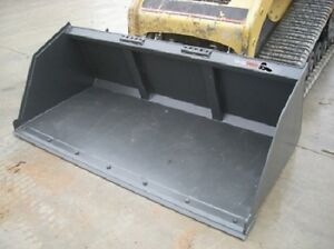 96 Mega Snow turkey Litter Bucket W Bolt On Edge Skid Steer Loader Attachment
