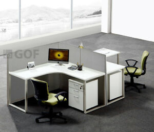 Gof L shaped Office Partition 30dx78wx48h Office room Divider 2 5 x6 5