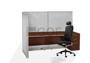 Gof L shaped Office Partition 30d X 60w X 48h Freestanding Room Divider