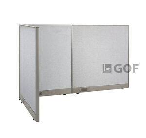 Gof L shaped Office Partition 36d X 78w X 48h Freestanding Room Divider