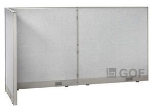 Gof L shaped Office Partition 30d X 96w X 48h Freestanding Room Divider