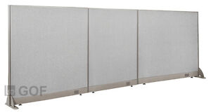 Gof Office Freestanding Partition 126 w X 48 h Office Divider