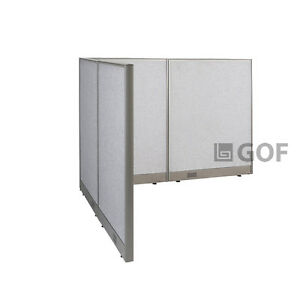Gof L shaped Office Partition 60d X 72w X 48h Freestanding Room Divider