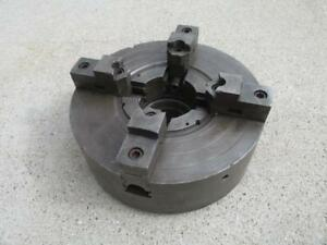 D e Whiton 15 Metal Lathe Chuck 4 Jaw Independent Self Centering 5 5 X 8 Tpi