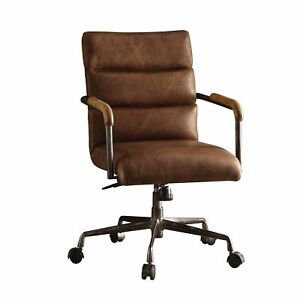 Acme Harith Executive Office Chair Retro Brown Top Grain Leather
