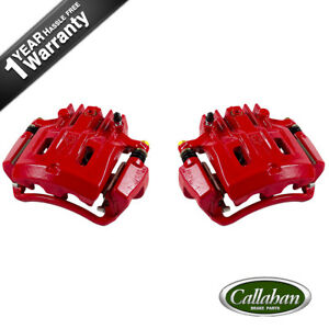 Rear Red Brake Calipers For Ford Excursion F250 F350 Super Duty Pickup 4wd Rwd