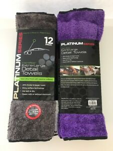 Platinum Series Microfiber Cleaning Cloth Car Detailing Towel 24 Towels 2 Dozen