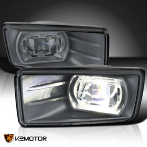Smoked 2007 2014 Chevy Silverado Tahoe Bright Led Projector Driving Fog Lights