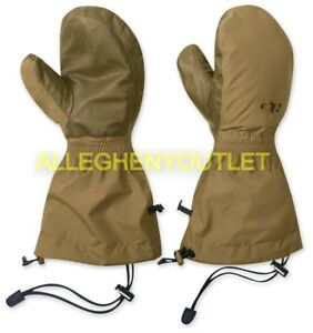 Outdoor Research Firebrand Extreme Cold Weather Goretex Mitts Coyote M New