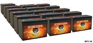 16 Vmax Slr100 Solar 100ah Ea Deep Cycle 12v Agm Battery Hicapacity Maint Free