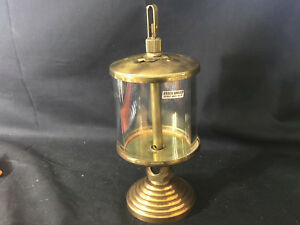 Vtg Essex Brass Detroit Mich Brass And Glass Hit And Miss Steam Engine Oiler