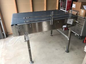 Conveyor Accumulation Table 3 X 5 Stainless With System Plast Chain