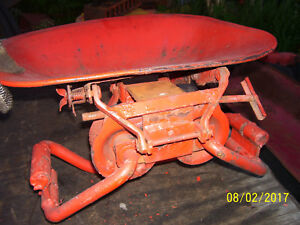 Vintage Ji Case 210 B Tractor Rubber Spring Seat Assembly Needs Rebuild